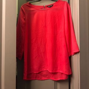 Pink Express Top with Zipper Back- Size M